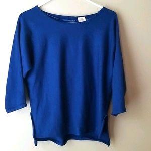 CUPIO Royal Blue Sweater Top